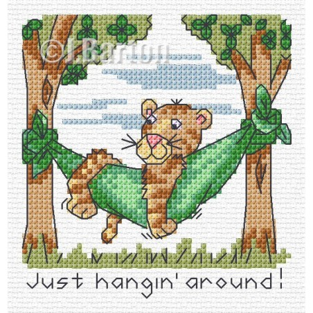 Just hangin' around (cross stitch chart download)