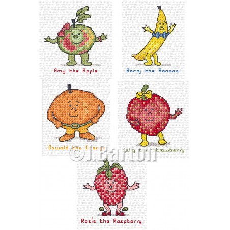 Funny fruits (cross stitch chart download)