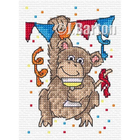 Monkeying around (cross stitch chart download)