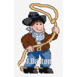 Cowboy (cross stitch chart download)