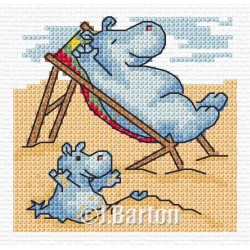 Beach time (cross stitch chart download)