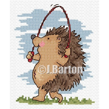 Skipping (cross stitch chart download)