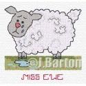 Miss ewe (cross stitch chart download)
