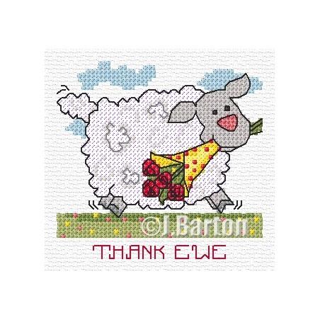 Thank ewe (cross stitch chart download)