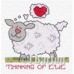 Thinking of ewe (cross stitch chart download)