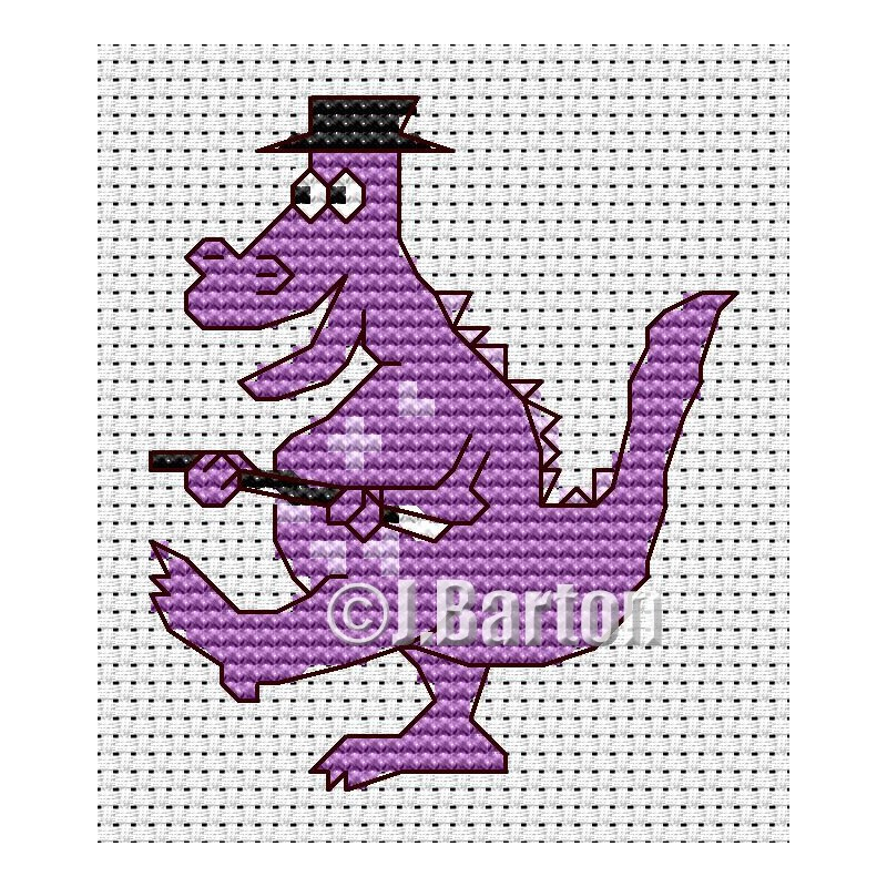 Dancing dragon (cross stitch chart download)