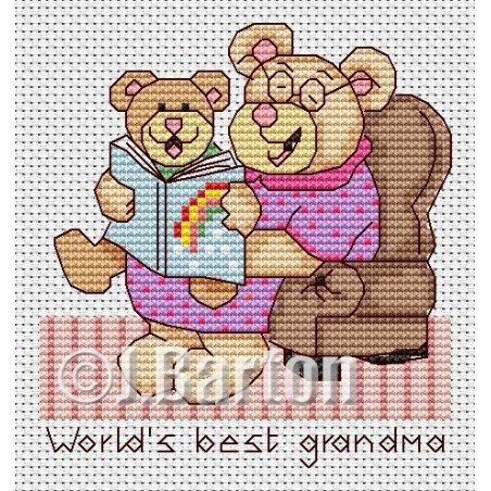 World's best grandma (cross stitch chart download)