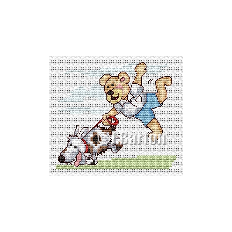 Walkies time! (cross stitch chart download)