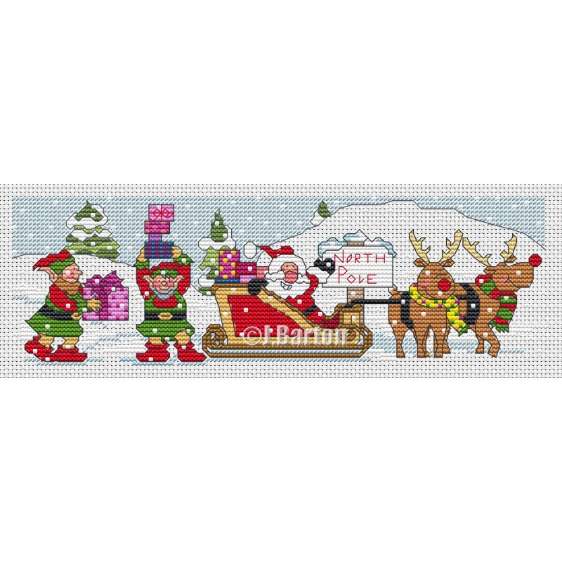North Pole (cross stitch chart download)