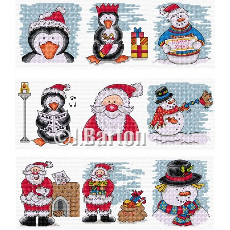 Fun Christmas (cross stitch chart download)