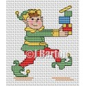 Christmas elf (cross stitch chart download)