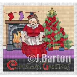 Christmas greetings (cross stitch chart download)