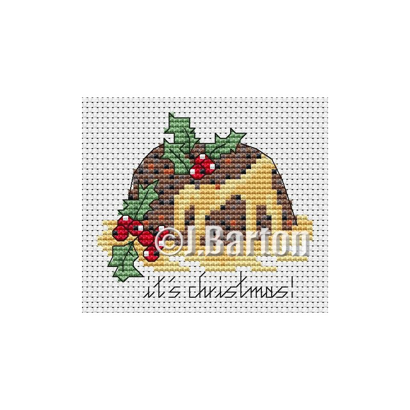 Christmas pudding (cross stitch chart download)