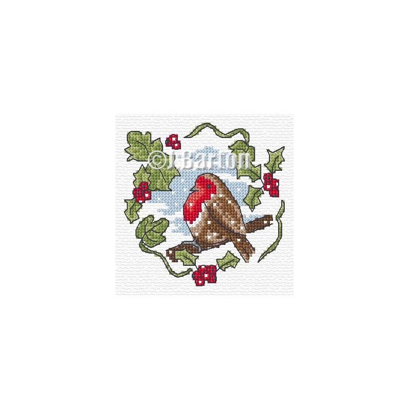 Winter robin (cross stitch chart download)