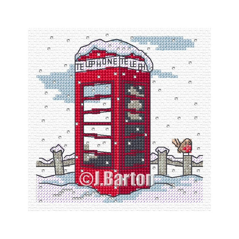 Telephone box (cross stitch chart download)