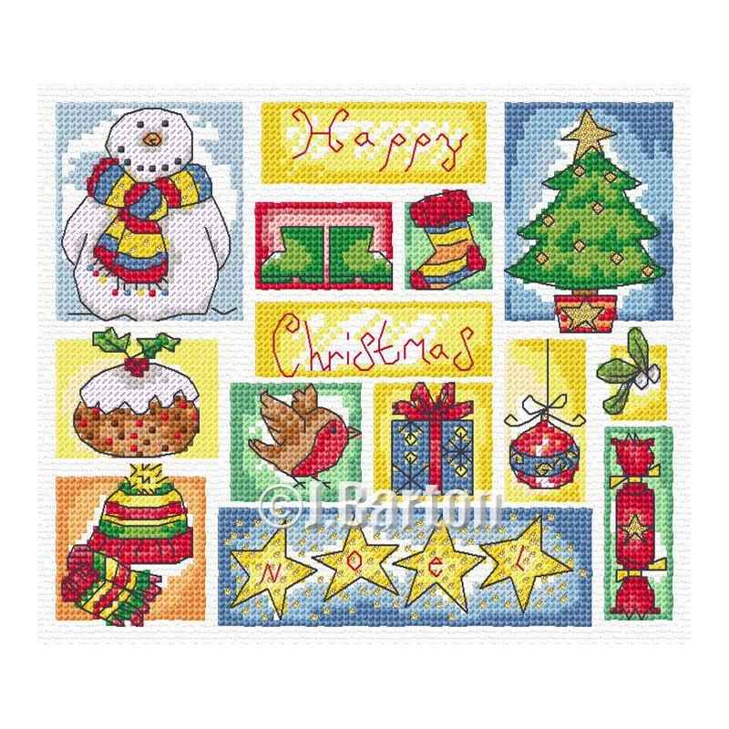 Christmas sampler (cross stitch chart download)