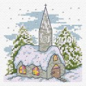 Church in the snow (cross stitch chart download)