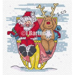 Santa's snooze (cross stitch chart download)