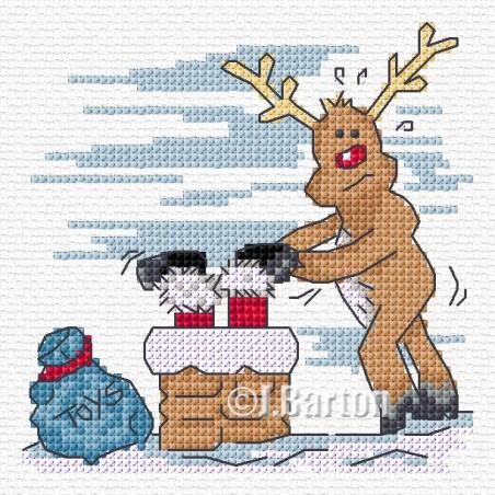 When Santa got stuck up the chimney (cross stitch chart download)
