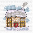 Snowy house (cross stitch chart download)