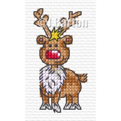 Happy reindeer (cross stitch chart download)