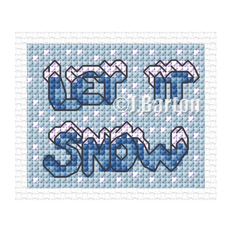 Let it snow (cross stitch chart download)