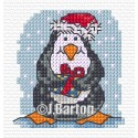 Festive penguin (cross stitch chart download)
