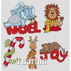 Jungle Christmas (cross stitch chart download)