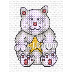 Festive cat (cross stitch chart download)