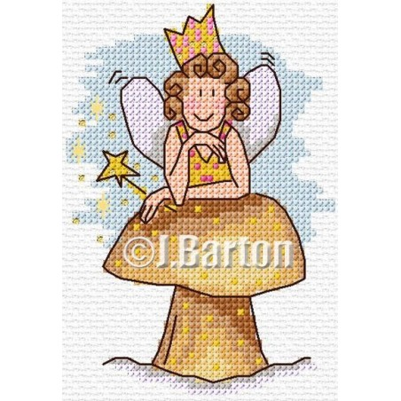 Fairy rest time (cross stitch chart download)