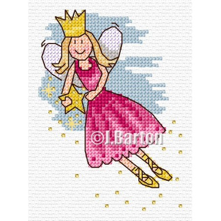 Shooting star fairy (cross stitch chart download)