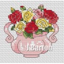 Roses cross stitch chart