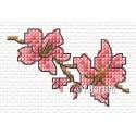 Pink blossom cross stitch chart