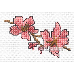Pink blossom (cross stitch chart download)