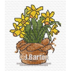 Daffodils cross stitch chart