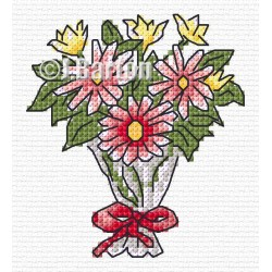 Bouquet cross stitch chart