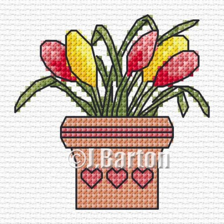 Flower pot (cross stitch chart download)