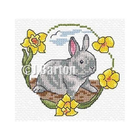 Grey rabbit (cross stitch chart download)