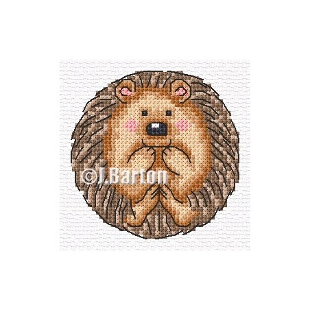Cute hedgehog (cross stitch chart download)
