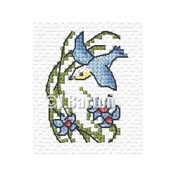 Bird in flight cross stitch chart