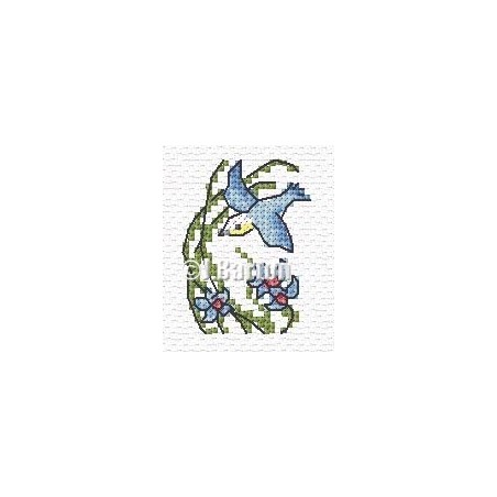 Bird in flight (cross stitch chart download)