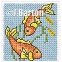 Koi carp cross stitch chart