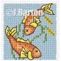 Koi carp cross stitch chart