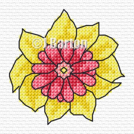 Single flower (cross stitch chart download)