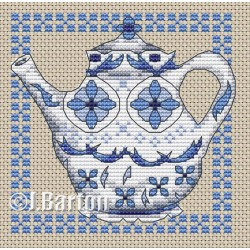 Delft teapot cross stitch chart