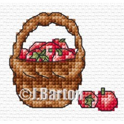 Basket of apples cross stitch chart