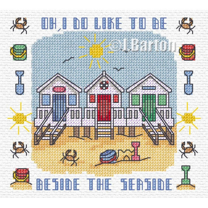 Seaside cross stitch chart