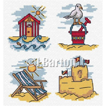 On the beach (cross stitch chart download)