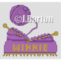Knitting (cross stitch chart download)