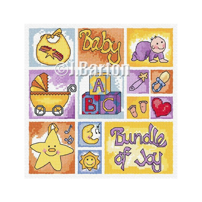 Baby sampler cross stitch chart